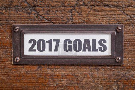 2017 goals - file cabinet label