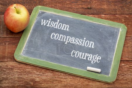 wisdom, compassion and courage