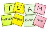 TEAM acronym on a set of sticky notes