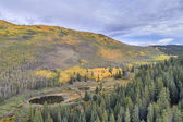 fall colors in a mountain valley in Colorado