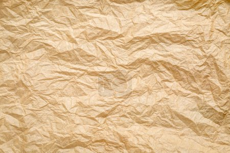 Photo pour Papier brun froissé, froissé et plissé fond - image libre de droit