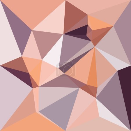 Almond Beige Abstract Low Polygon Background