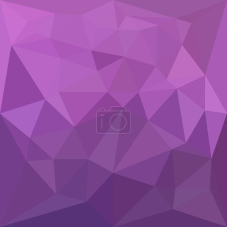Illustration for Low polygon style illustration of a plum purple abstract geometric background. - Royalty Free Image