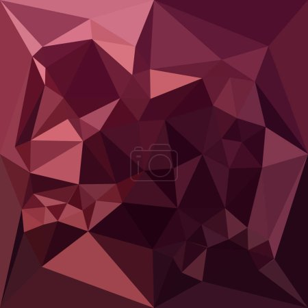 Dark Raspberry Red Abstract Low Polygon Background