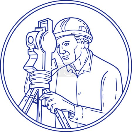 Surveyor Theodolite Circle Mono Line