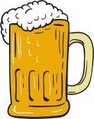 Beer Mug Drawing