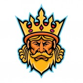 King With Crown Mascot