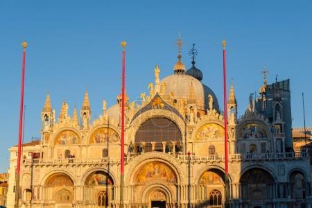 Photo pour Piazza San Marco, en face de la basilique, Venise, Italie - image libre de droit