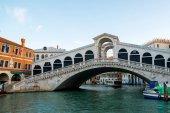 The Grand Canal and Rialto bridge, Venice