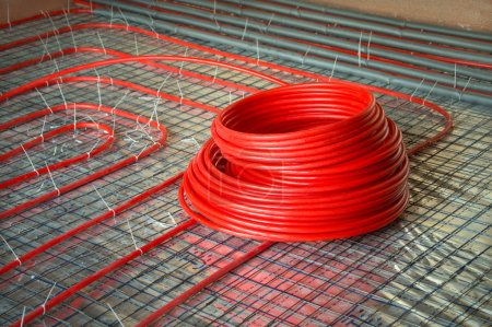 Construction of radiant floor heating system