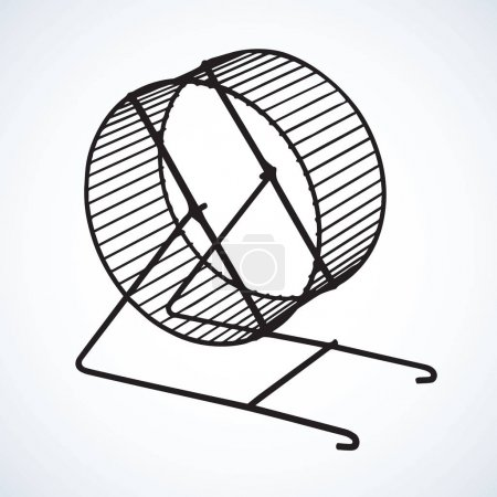 Hamster wheel. Vector drawing