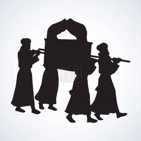 Priests carry the ark Vector