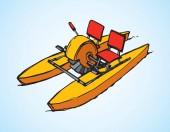 Catamaran pedal Vector drawing