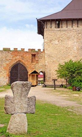 Old Cossack cross in Medzhybizh castle, Ukraine