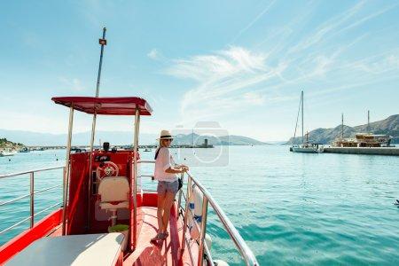 Woman on boat trip