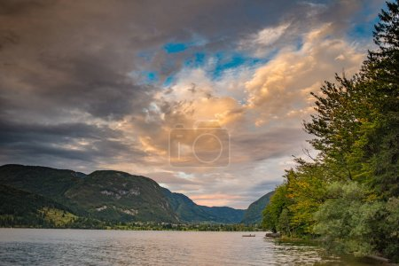 Sunset over Lake Bohinj