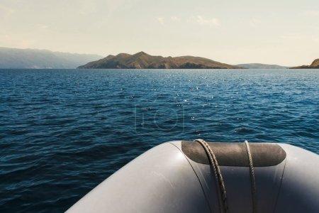 Boat excursion on sea