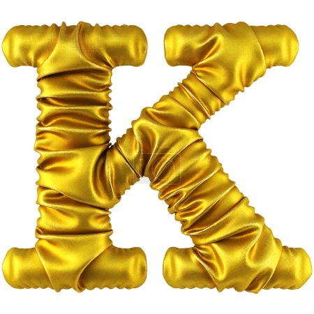 Golden fabric letter