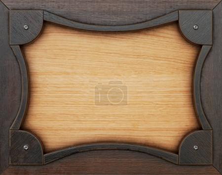 Photo pour Vieux cadre en bois. Isolé sur blanc. Rendu 3d - image libre de droit