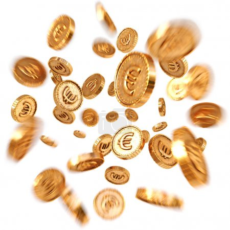 Realistic Gold euro coins