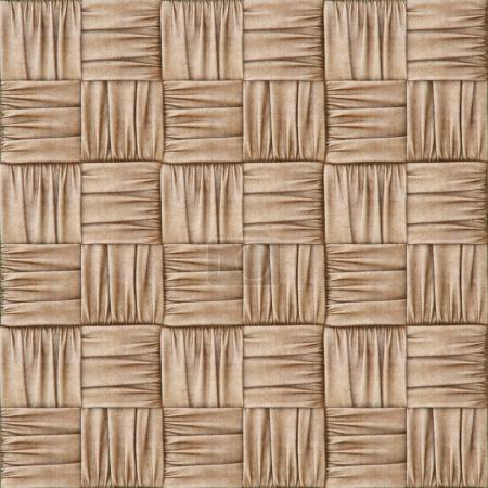 woven rattan with natural patterns of burlap