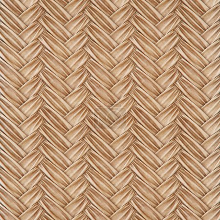 Photo for Woven rattan with natural patterns of burlap. 3d rendering - Royalty Free Image