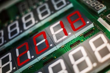 Photo for Circuit board for electronic components with digital display - Royalty Free Image