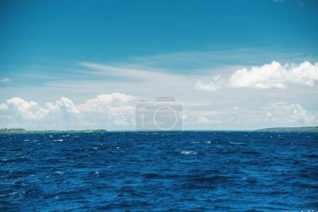 Photo for Beautiful caribbean sea, panoramic view from the boat - Royalty Free Image