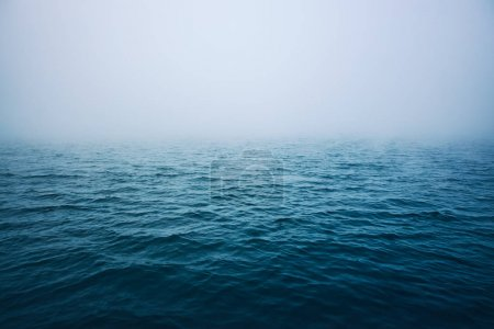Photo for Sea ripple water with morning fog. - Royalty Free Image