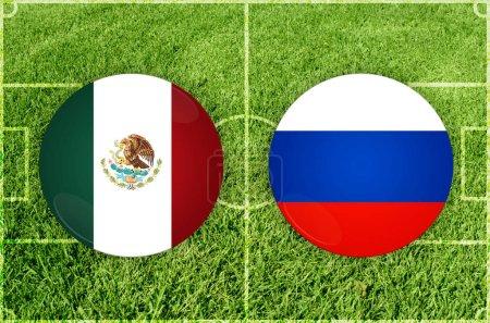 Mexico vs Russia football match