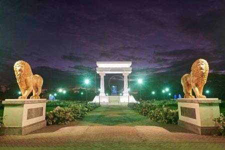 Leon, Nicaragua - January 4, 2017: Ruben Dario par...