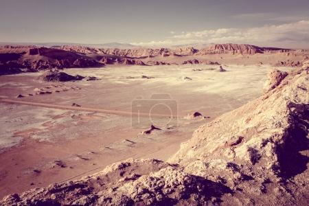 Photo pour Paysage de Valle de la Luna à San Pedro de Atacama, Chili - image libre de droit