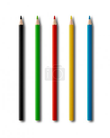 Photo for Coulouring pencils mockup isolated on white background - Royalty Free Image