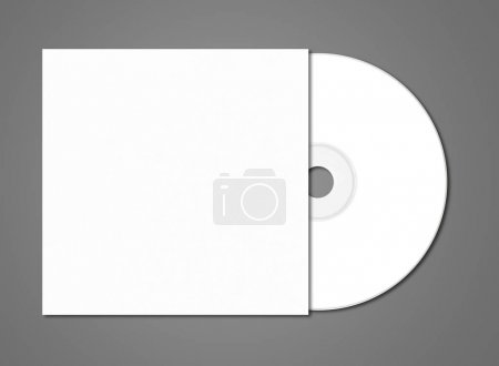 Photo for White CD - DVD and cover mockup template isolated on dark grey background - Royalty Free Image