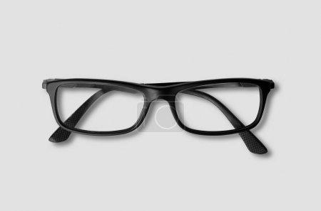 Photo pour Lunettes oeil au beurre noir sur fond gris - image libre de droit