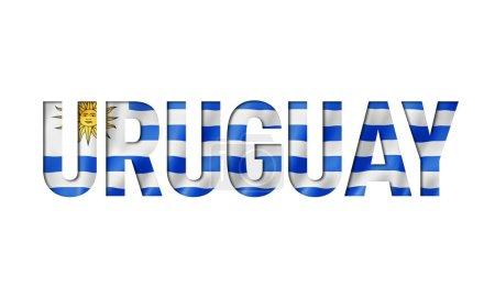 Photo pour Uruguaian flag text font. uruguay symbole fond - image libre de droit