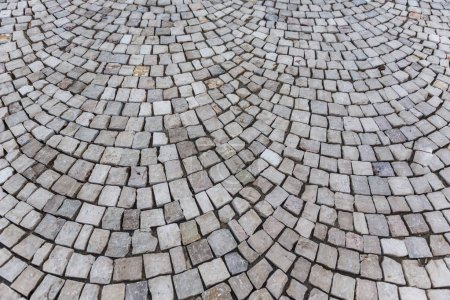 Texture of old stone pavement