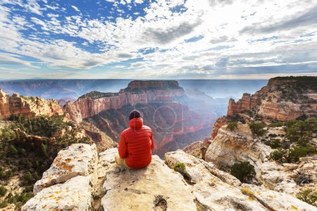 Photo for Hiker in Grand Canyon National Park - Royalty Free Image