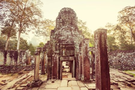 Ancient Khmer civilization ruins