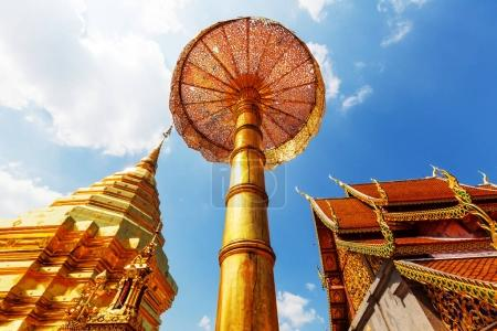 Wat Phra That Doi Suthep is the most famous temple in Chiang Mai