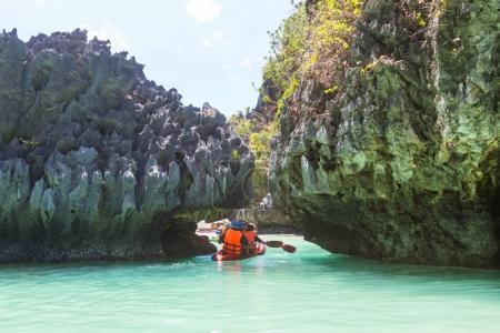 Kayak in the island lagoon
