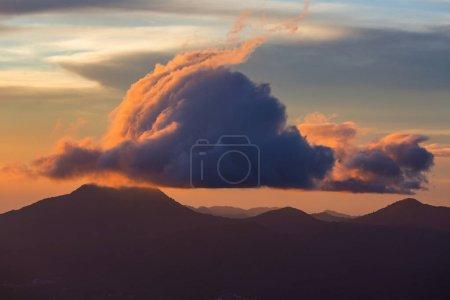 Beautiful  volcano  in Cerro Verde National Park in El Salvador at sunset
