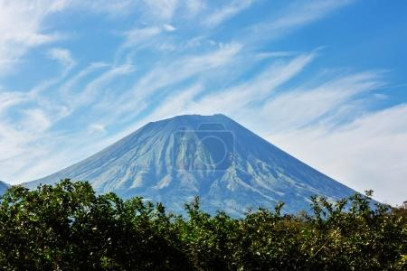 Volcanic mountains landscape in Nicaragua