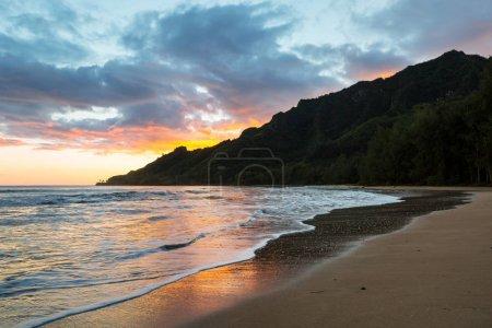 Amazing hawaiian beach nature landscape