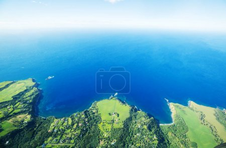 Aerial view of Maui island, Hawaii, USA
