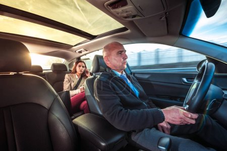 Professional driver, a taxi chauffeur