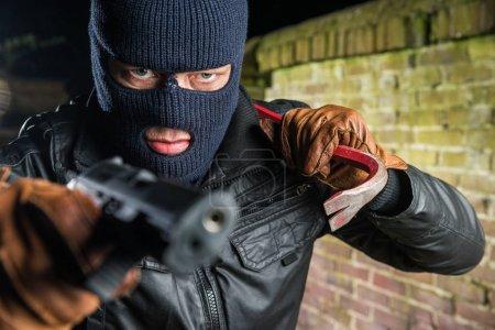 Gangster Holding Crowbar
