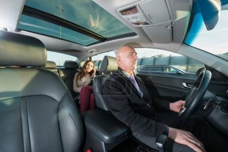 driver riding taxi