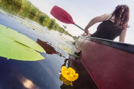 Young Woman Kayaking