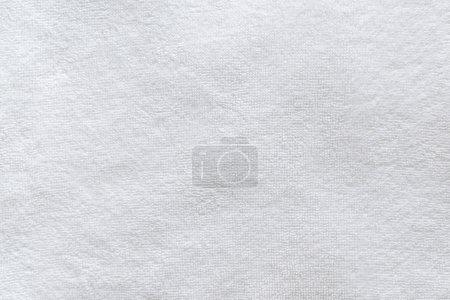 Photo pour Blanc serviette de bain texture close up comme fond - image libre de droit